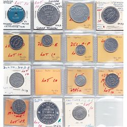 Ontario Trade Tokens - Lot of 15 Wentworth County trade tokens
