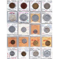 Ontario Trade Tokens - Lot of 20 Hamilton trade tokens