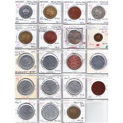 Ontario Trade Tokens - Lot of 19 Hamilton trade and advertising tokens.