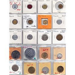 Ontario Trade Tokens - Lot of 40 Toronto transportation, parking tokens and medals