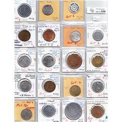 Ontario Trade Tokens - Lot of 19 Toronto merchant trade tokens