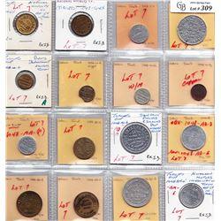 Ontario Trade Tokens - Lot of 16 Toronto merchant trade tokens