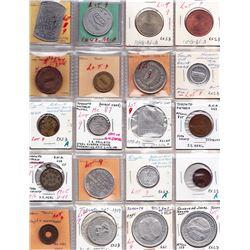 Ontario Trade Tokens - Lot of 20 Toronto merchant trade tokens