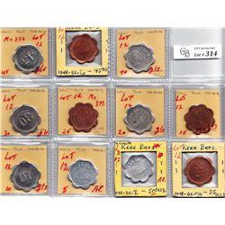 Ontario Trade Tokens - Complete denomination set of Kerr Bros. Toronto tokens in 3 metals