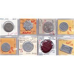 Ontario Trade Tokens - Lot of 8 Toronto merchant trade tokens