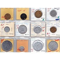 Ontario Trade Tokens - Lot of 12 Toronto merchant trade tokens