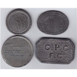 Canada East Communion Tokens - Lot of 4