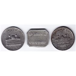 Canada East Communion Tokens - Lot of 3