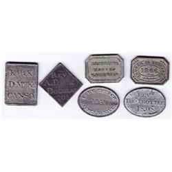 Nova Scotia Communion Tokens - Lot of 6