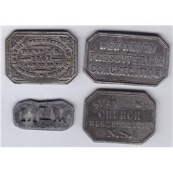 Nova Scotia Communion Tokens - Lot of 4
