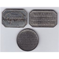 Nova Scotia Communion Tokens - Lot of 3