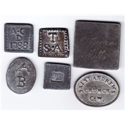 Canada West Communion Tokens - Lot of 6