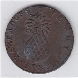 World Coins - Barbados, Large Penny, 1788