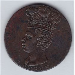 World Coins - Barbados, Penny, 1792
