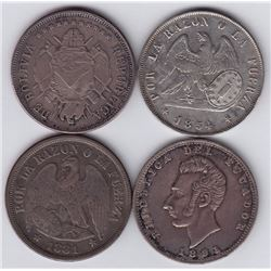 World Coins - Bolivia, Chile & Ecuador - Lot of 4