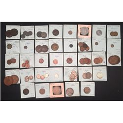 World Coins - Brunei, Bohemia & Moravia, Burma, Cambodia, Cameroon. Ceylon & Chile - Lot of 70 Coins