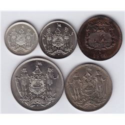 World Coins - British North Borneo - Lot of 5