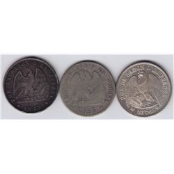 World Coins - Chile - Lot of 3 Pesos