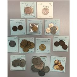 World Coins - Danzig - Lot of 52 Coins