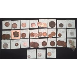 World Coins - French Colonies/Oceania/Indo-China/Equitorial Africa, France - Lot of 42 Coins