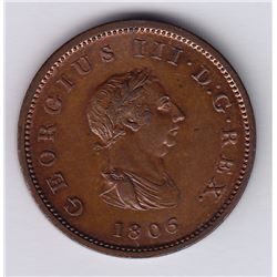 World Coins - Great Britain, 1/2 Penny, 1806