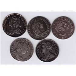 World Coins - Great Britain - Lot of 5 Two Pence