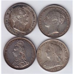 World Coins - Great Britain - Lot of 4 Shillings