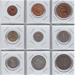 World Coins - Great Britain - 9 Coin Proof Set, 1951