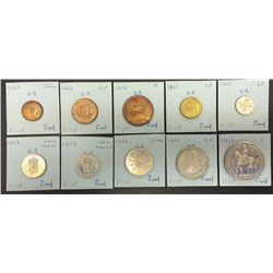 World Coins - Great Britain - 10 Coin Proof Set - 1953