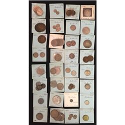 World Coins - Greece, Guadeloupe, Guatemela - Lot of 75 Coins