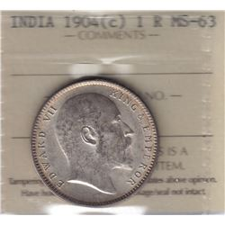 World Coins - India, 1 Rupee, 1904c
