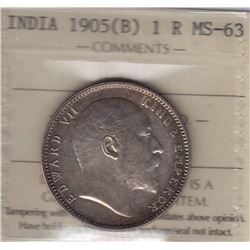 World Coins - India, 1 Rupee, 1905B