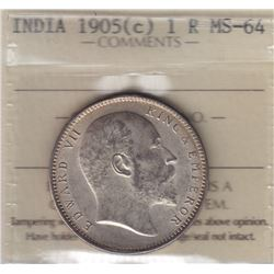 World Coins - India, 1 Rupee, 1905c