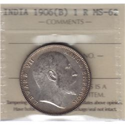 World Coins - India, 1 Rupee, 1906B