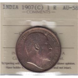 World Coins - India, 1 Rupee, 1907c