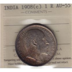 World Coins - India, 1 Rupee, 1908c