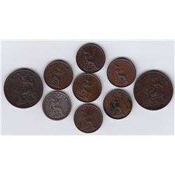 World Coins - Ionian Islands, Lot of 9