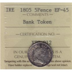 World Coins - Ireland, Bank Token, 5 Pence, 1805