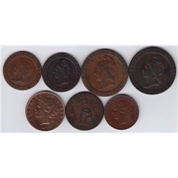 World Coins - Liberia - Lot of 7