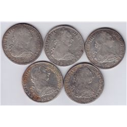 World Coins - Mexico - Lot of 5, 8 Reales