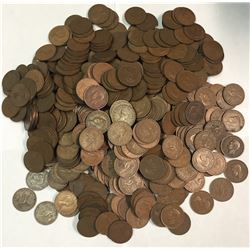 World Coins - New Zealand - Large Lot of 540 One Penny Coins