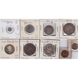 World Coins - Panama - Lot of 9