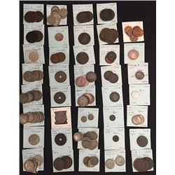 World Coins - Saarland, Sarawak, Somalia and Spain - Lot of 114 Coins