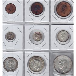 World Coins - South Africa - 9 Coin Proof Set, 1951
