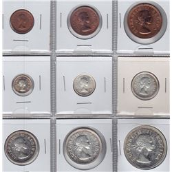 World Coins - South Africa - 9 Coin Proof Set, 1955