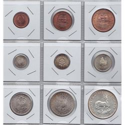 World Coins - South Africa - 9 Coin Proof Set, 1959