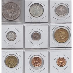 World Coins - South Africa - 9 Coin Proof Set, 1964