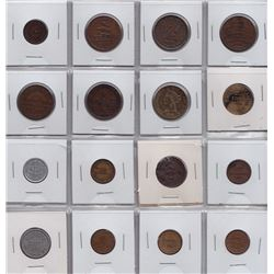 World Coins - Civil War Store Card and Hard Times Tokens - Lot of 42