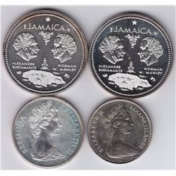 World Coins - World Coins - Lot of 4 Sterling Silver Coins