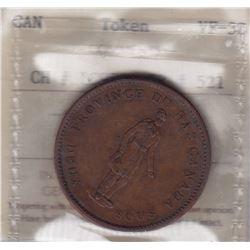 Br 521. Quebec Bank Penny, 1837.